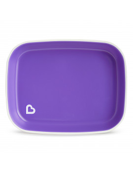 Munchkin Food Adventure Splash Toddler Dining Gift Set, Includes Plate and Stainless Steel Utensils, Purple