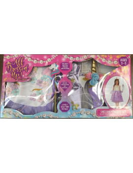 ALL DRESSED UP UNICORN PRINCESS DRESS SET W/4 ACCESSORIES