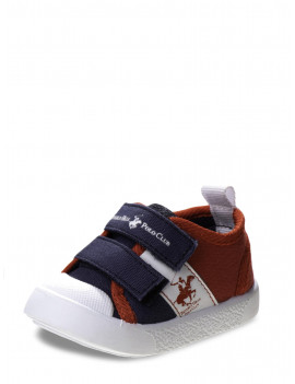 Beverly Bills Polo Club Canvas Two Strap Sneakers (Infant Boys)