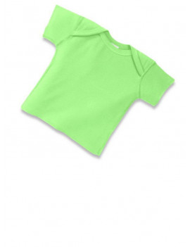 (Price/each)Rabbit Skins 3400 Infant Lap Shoulder T-Shirt-Key Lime-6M