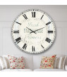 Designart 'Farmhouse Florals VIII' Metal Wall Clock