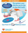 KidzStuff Super Powers 3X 3-Sided Manual Kids Toothbrush Large 4 pack.