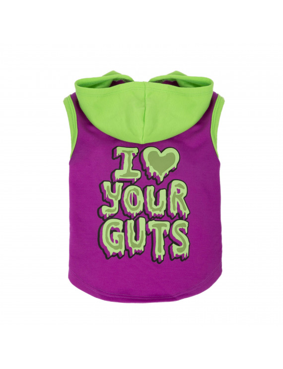 Way To Celebrate Purple I Heart Your Guts Hoodie Xs