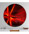 Red and Yellow Rays' Oversized Modern Metal Clock