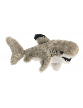 31703 Tipped Shark Plush, Small/6 x 14, Black, Suitable for any and all ages. By Aurora