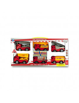 Kole Imports KL251-2 4 x 2 in. Fire Engine Truck Set, 6 Piece - Pack of 2