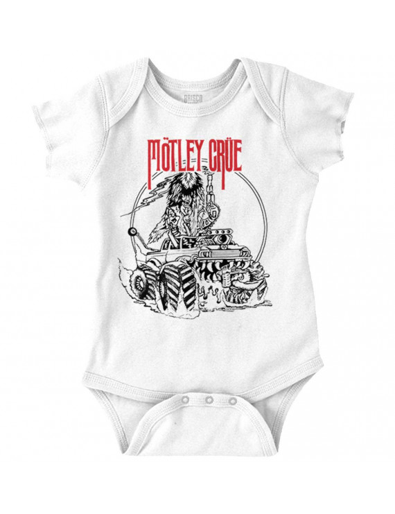 Music Newborn Romper Bodysuit For Babies Motley Crue Rock And Roll 1987 Band Tour Logo