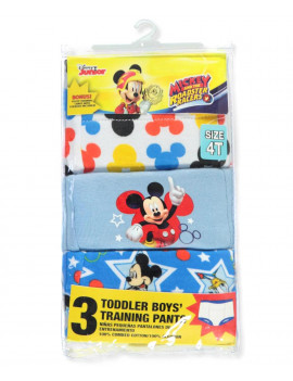 Mickey Mouse Potty Training Pants Underwear, 3-Pack (Toddler Boys)