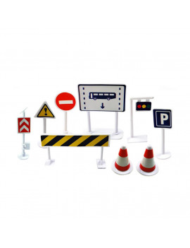 Siaonvr Car Toy Accessories Traffic Road Signs 9pcs Kids Children Play Learn Toy Game