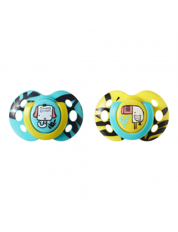 Tommee Tippee Closer to Nature Fun Style Baby Pacifier, 6-18mo – 2pk (Colors & Designs Vary)