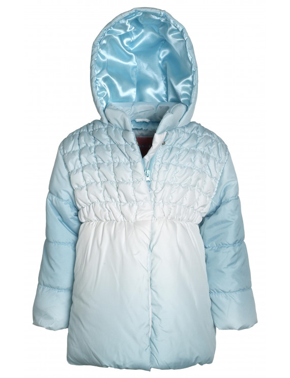 Wippette Girls Down Alternative Hooded Ruffled Winter Puffer Bubble Jacket Coat