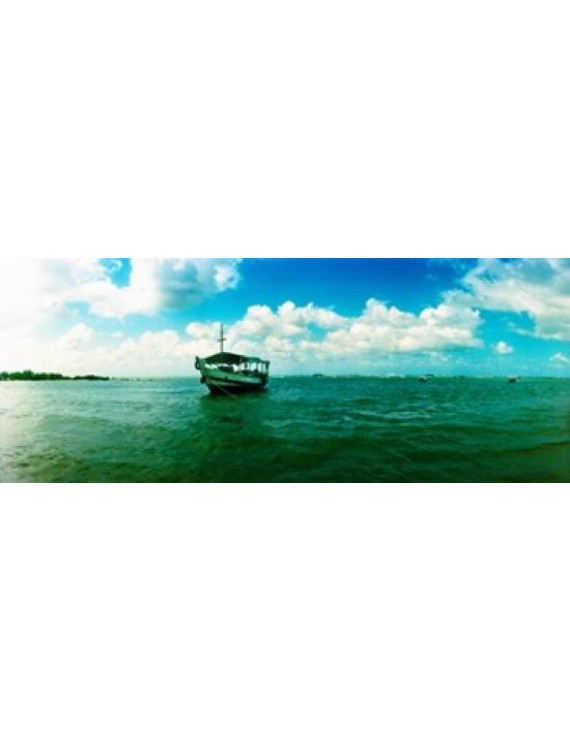 Wooden boat in the ocean Morro De Sao Paulo Tinhare Cairu Bahia Brazil Canvas Art - Panoramic Images (15 x 6)
