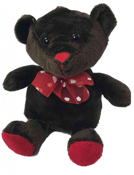 Dan Dee Chocolate Scented Mini Teddy Bear Stuffed Animal With Red Bow Plush Pal