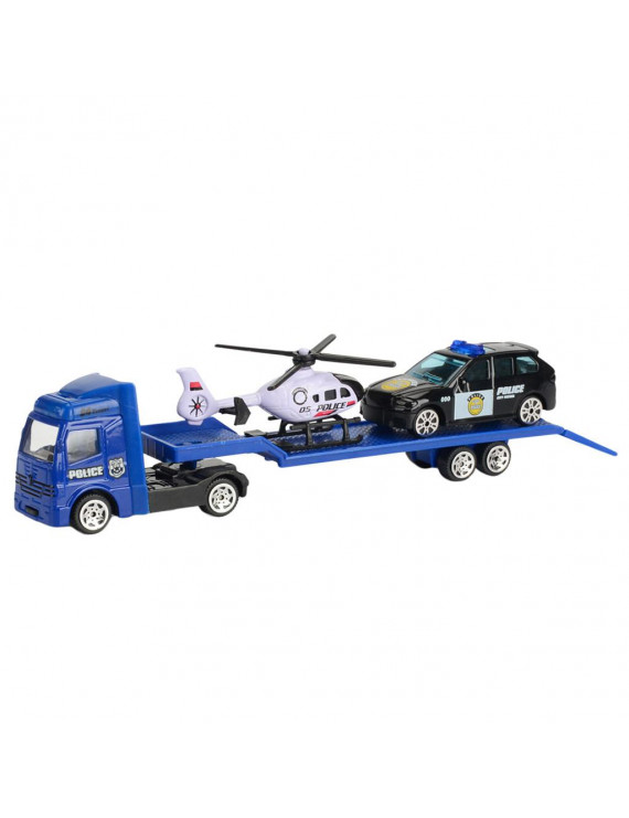 Iuhan Children Educational Toy Truck Toy Car Model Scenes Set Portable Storage