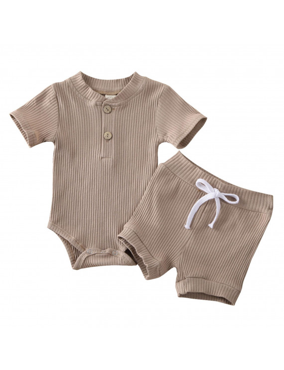 Newborn Kid Baby Boy Girl Clothes Romper Bodysuit Shorts Outfits Summer Set