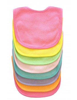 Neat Solutions Solid Multi Color Bib Set, Girl, 8 Pack