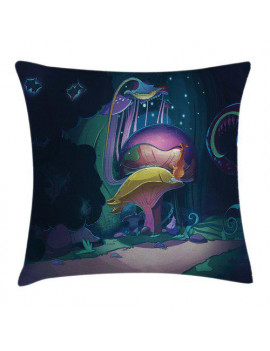 Ambesonne Mushrooom Big Magical Plant Pillow Cover