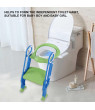 LYUMO Baby Toilet Ladder Kids Boys Girls Safety Potty Training Seat Adjustable Portable Children Toddler Hard Toilet Chair  Gifts