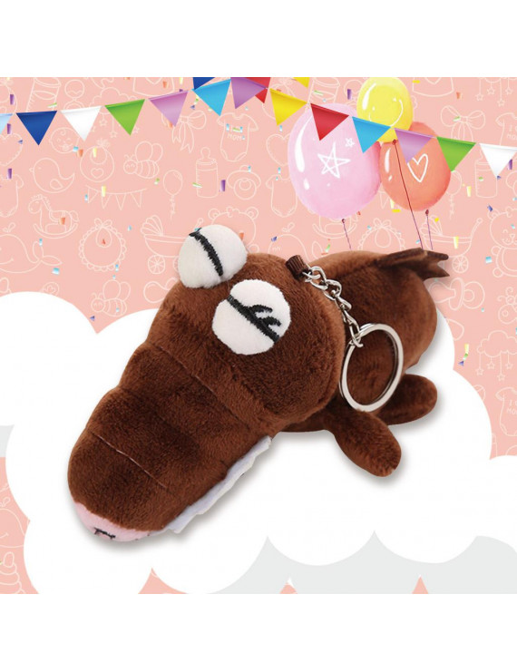 Siaonvr Backpack Accessories Cute Plush Toys Scrocodile Soft Stuffed Animals Dolls Gift
