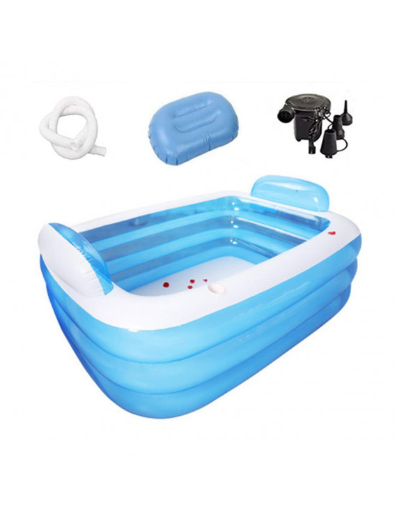 Portable inflatable bathtub set (145x105x50cm)