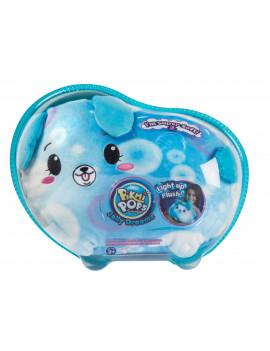 """Pikmi Pops Jelly Dreams, Glint the Dog, 11"""" LED Light up Glowing Plush Toy"""