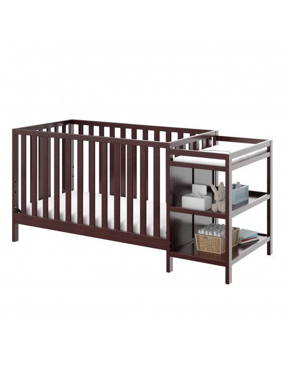 Storkcraft Pacific 4-in-1 Convertible Crib and Changer, Espresso
