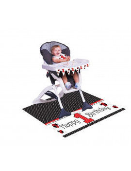 (Price/Case)Creative Converting 195019 Ladybug Fancy High Chair Kit (Case of 6)