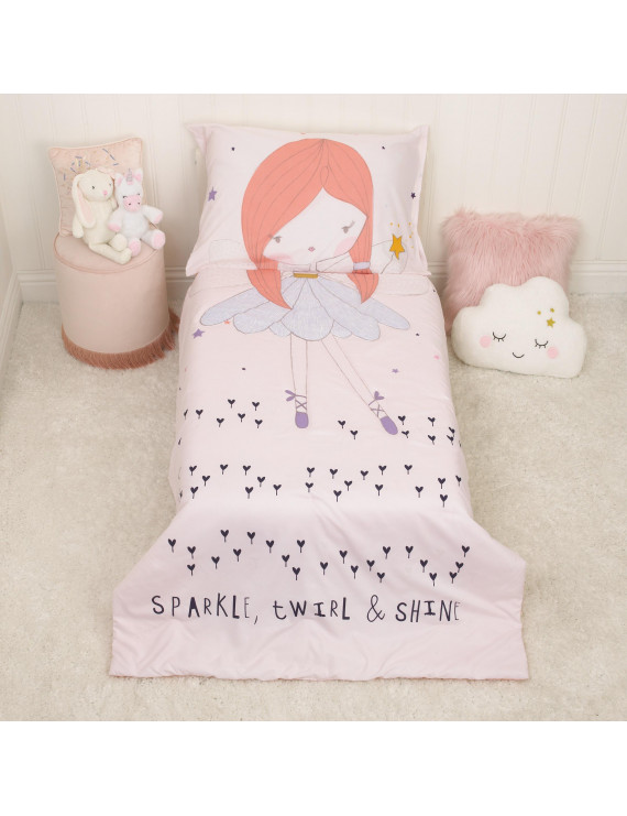 Everything Kids Magical Fairy - Glow in the Dark 4 Piece Toddler Bed Set