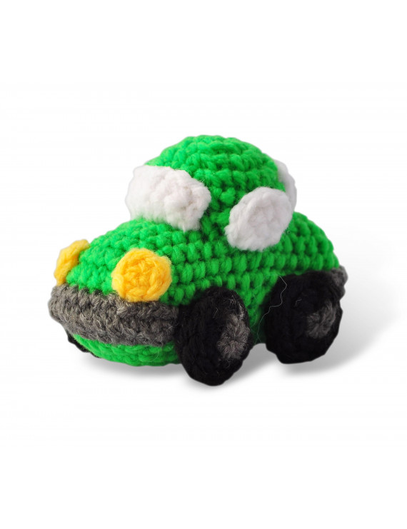 Green Car Toy Handmade Amigurumi Stuffed Toy Knit Crochet Doll VAC