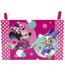 Disney Minnie Mouse 5-Piece Toddler Bedroom Set by Delta Children - Includes Toddler Bed, Table & 2 Ottoman Set, Multi-Bin Toy Organizer