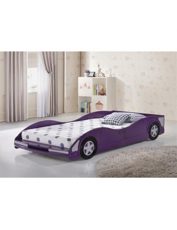 Pivot Direct PD-4004P Twin Size Race Car Bed - Purple