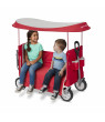 Radio Flyer, 3-in-1 Tailgater Wagon with Canopy, Folding Wagon, Red
