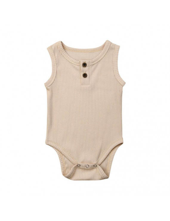 Newborn Baby Boys Girls Sleeveless Romper Jumpsuit Bodysuit Outfits Set Clothes