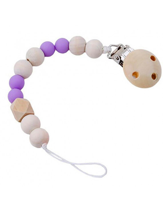 【JCXAGR】 Baby Wood Beaded Pacifier Pacifier Chain Pacifier Clip For Kids