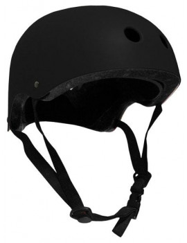 CPSC Skateboard Fitness Helmet YOUTH SIZE w/ INSERTS BLACK/BLACK