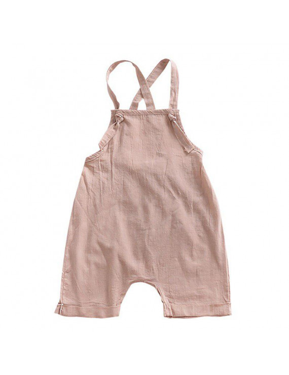 Stylish Baby Overalls With Solid Comfortable For Your Child To Dress With Drawstring In The Summer