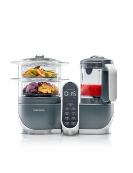 Babymoov Duo Meal Station - 6 in 1 Food Maker with Steam Cooker, Blend & Puree (9 cups)