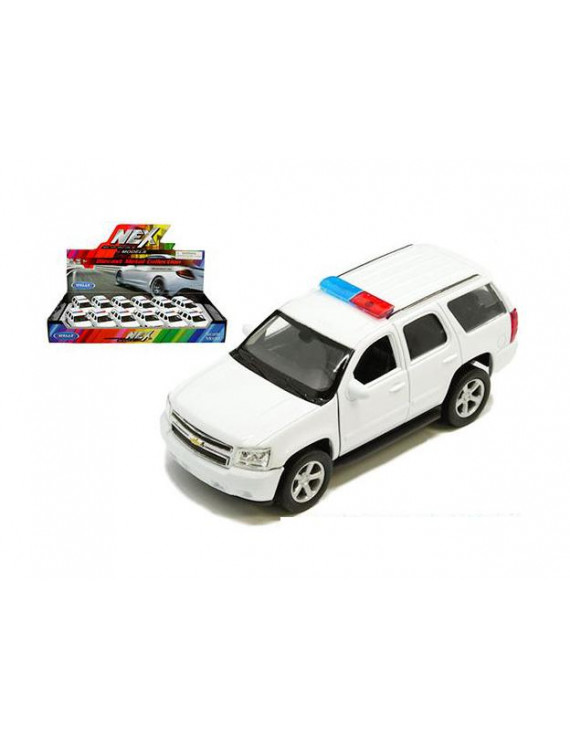 WELLY DISPLAY TRAY - 2008 CHEVROLET TAHOE POLICE WITH LIGHT BAR (PLAIN WHITE) 1:32 1 ITEM 43607PWH-D-MJ