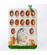 Fashioncraft Woodland Animals Baby's First Year Collage Photo Frame
