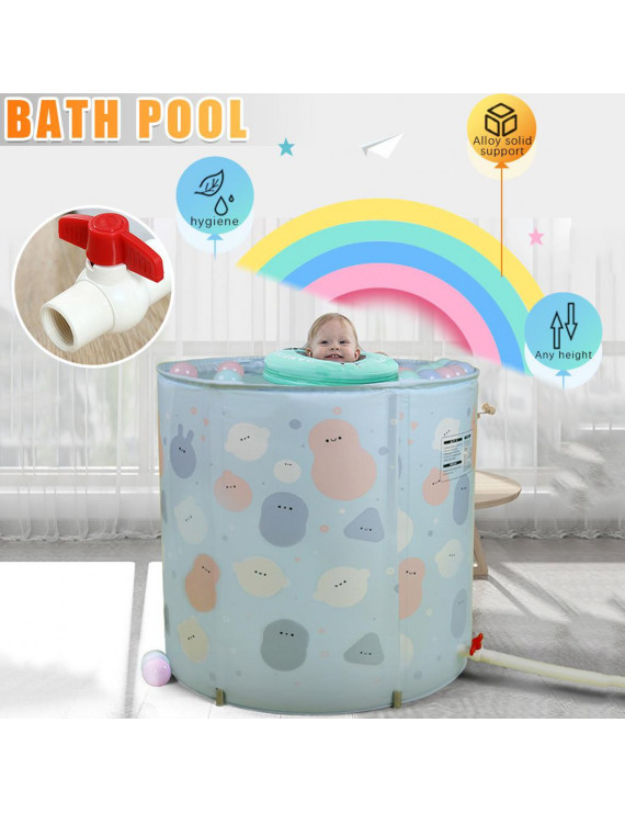 Large baby swimming bucket home baby swimming pool foldable alloy bracket young children indoor bath tub