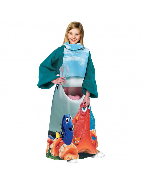 Disney Pixars Finding Dory, A Fishy Group 48x 48 Youth Fleece Comfy Throw