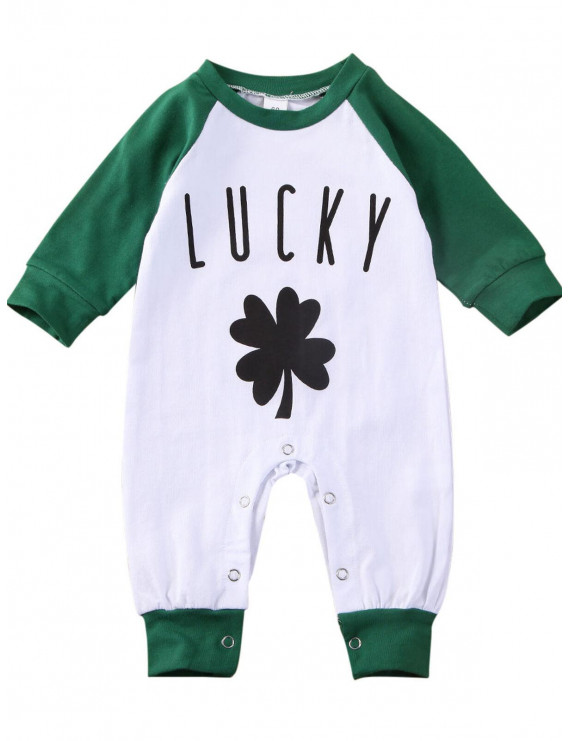 SUNSIOM Newborn Baby Girl Boy LUCKY Romper Jumpsuit Pajamas Sleepwear Outfits Clothes