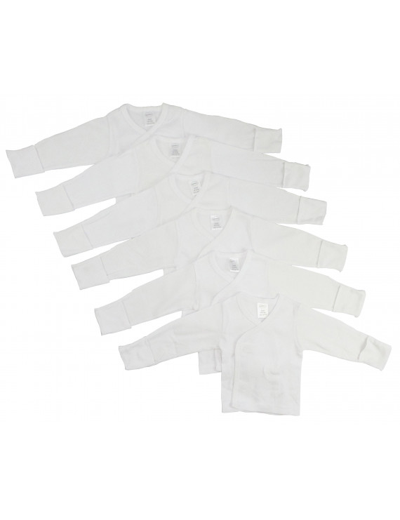 Long Sleeve Side Snap With Mittens 6 Pack