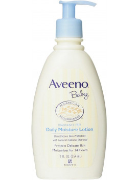 2 Pack - AVEENO Baby Daily Moisture Lotion Fragrance Free 12 oz