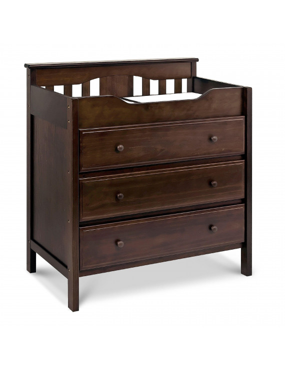 DaVinci Jayden 3-Drawer Changer Dresser in Espresso Finish
