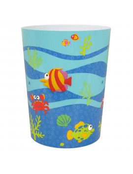 Fish Tails Plastic Wastebasket by Allure Home Creation