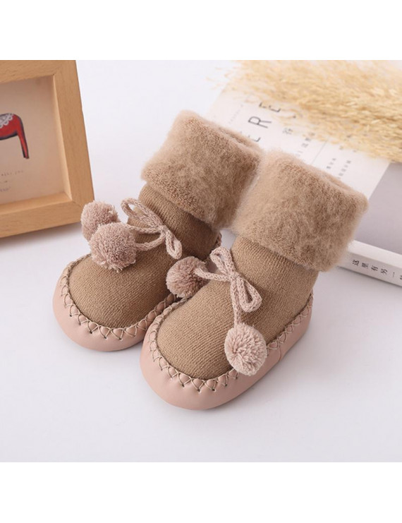 KABOER 1 Pair Comfortable Cotton Warm Boy Girls Toddler Infant Care Baby Shoes Floor Socks Kids Booties Flats