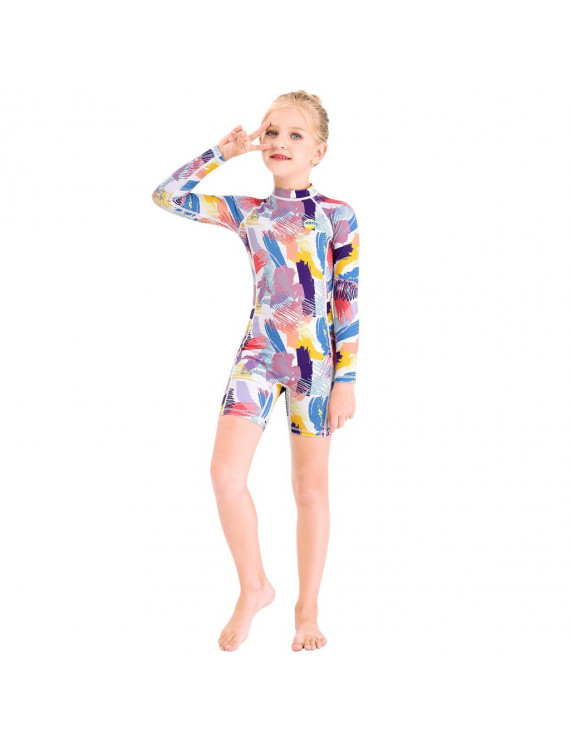 Kids Baby Girls Boy One Piece Sun Protection Rash Guard UPF 50+ Swimsuit Wetsuit