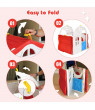 Costway Kids Cottage Playhouse Foldable Plastic Play House Indoor Outdoor Toy Portable