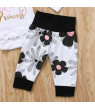Cathery 4PCS Newborn Infant Baby Girls Clothes Playsuit Romper Pants Bodysuit Outfit Set